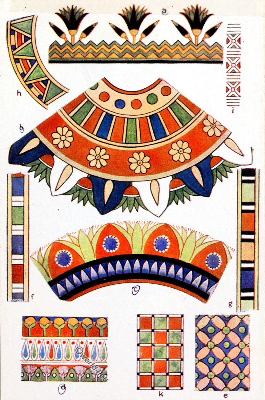 Egyptian, dress, decoration, fabric