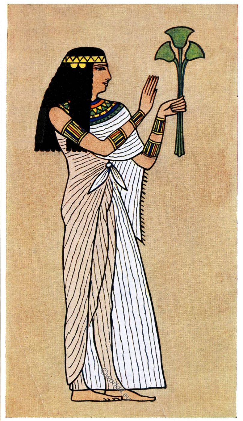 Ancient, Egypt, Priestess, costume, fashion history,