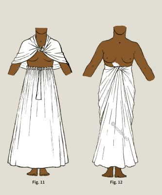 Ancient, Egyptian, Skirts, Cape, costume history