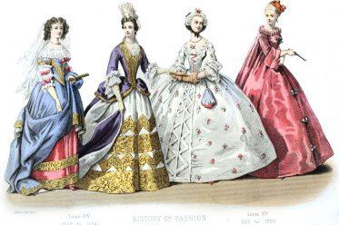 Rococo, Baroque, Fashion, History, Louis XV, XIV, pannier, hoop,