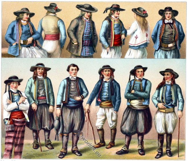 costumes, Brittany, Finistère, Bretagne, Châteauneuf-du-Faou, Carantec, Douarnenez, Quimper, Plonévez-Porzay, Scaër, Plogonnec, Langolen
