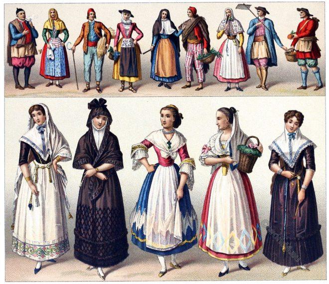 Spain, Balearic, Pitiusas, Folk, costumes , Mallorca, Ibiza, Valencia