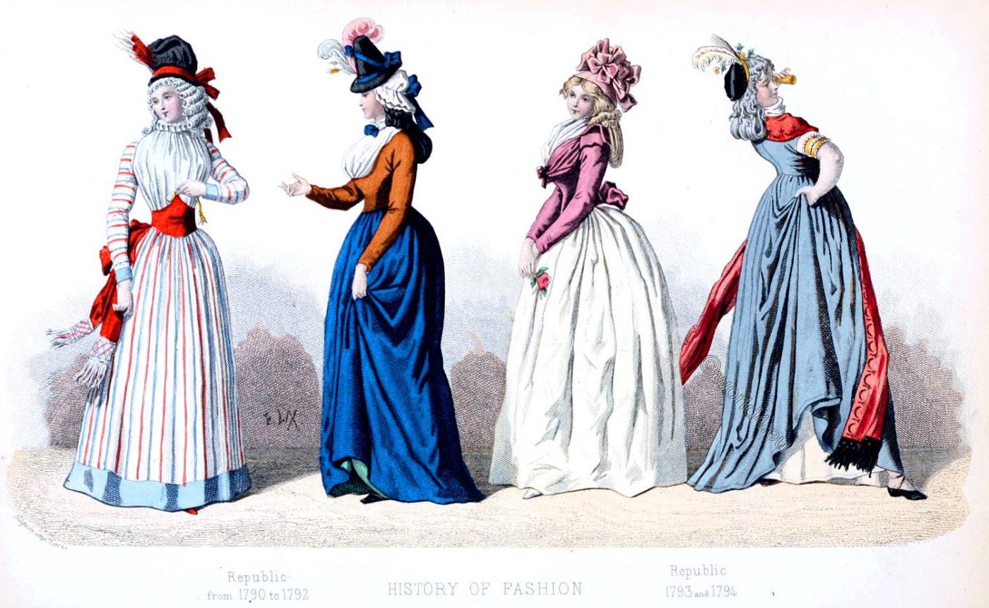 French, Republic, fashion, costumes, modes