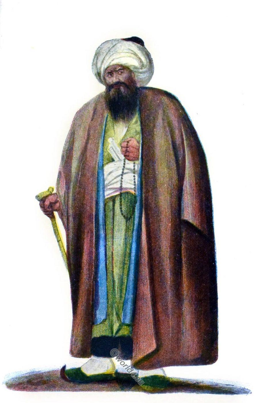 Mullah, Persia, Iran, Tesbih, rosary, costume, estékarè