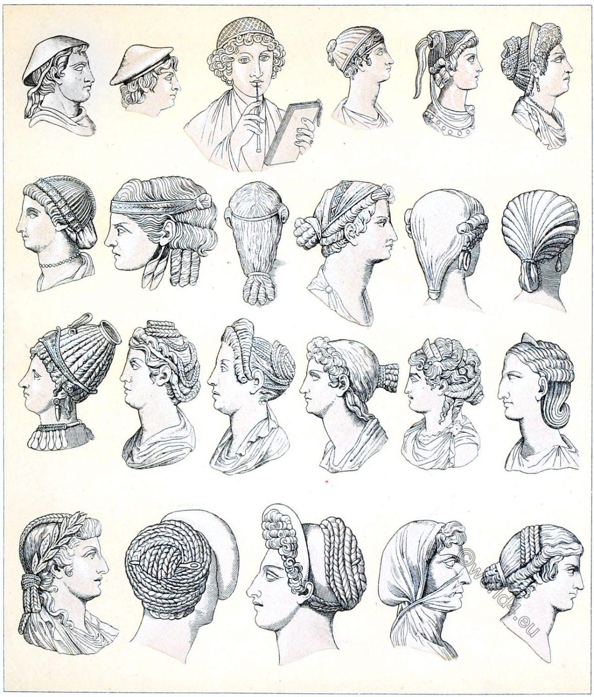 Roman, headgear, hair, antiquity