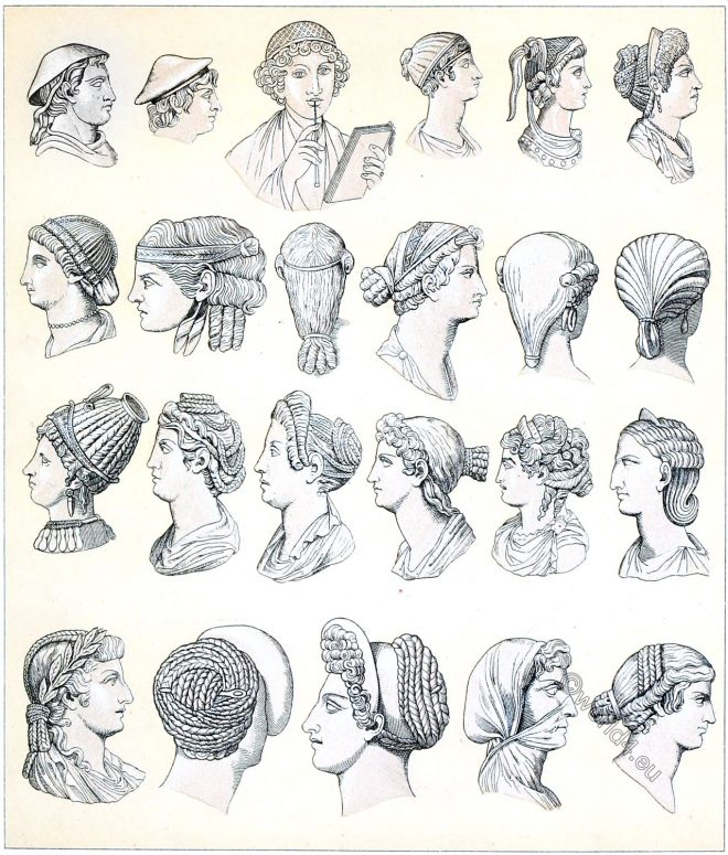 Roman, headgear, hair, antiquity