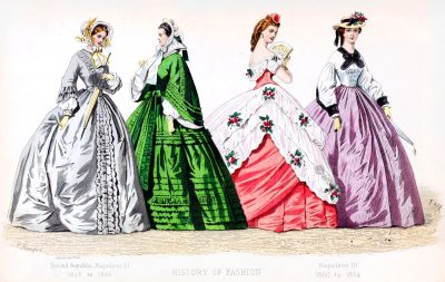 Crinoline,fashion history, Romantic, Napoleon III, Second Republic,