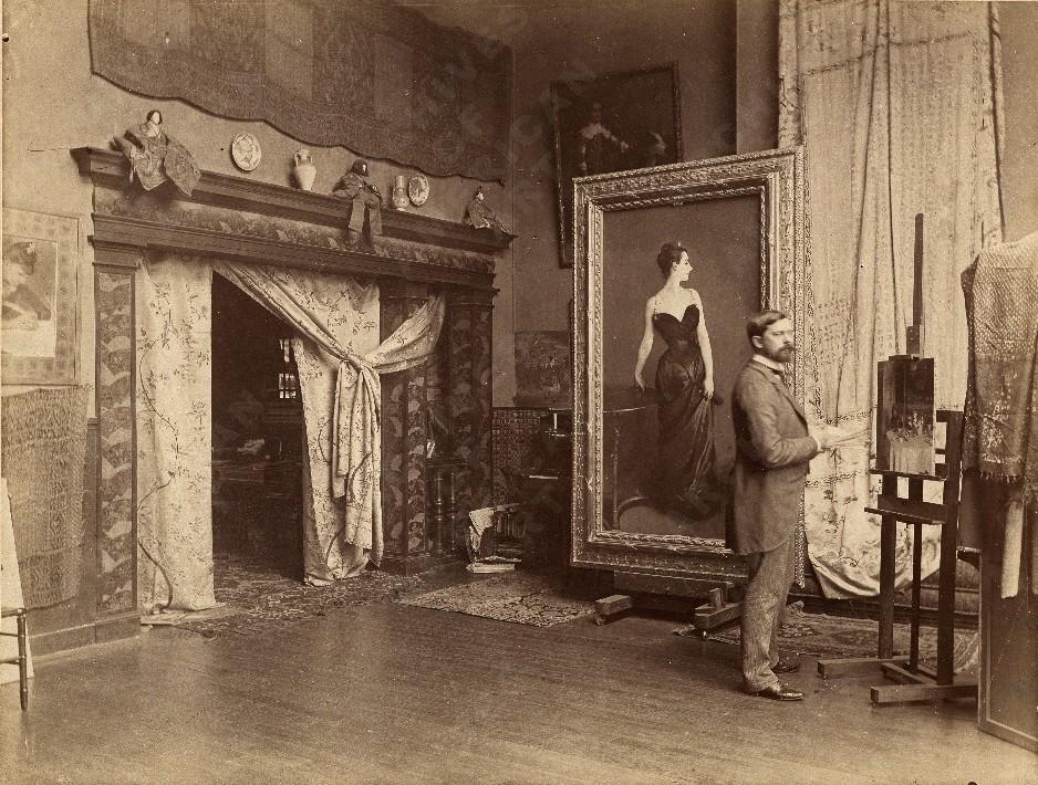 John Singer Sargent, Madame X, studio, Paris
