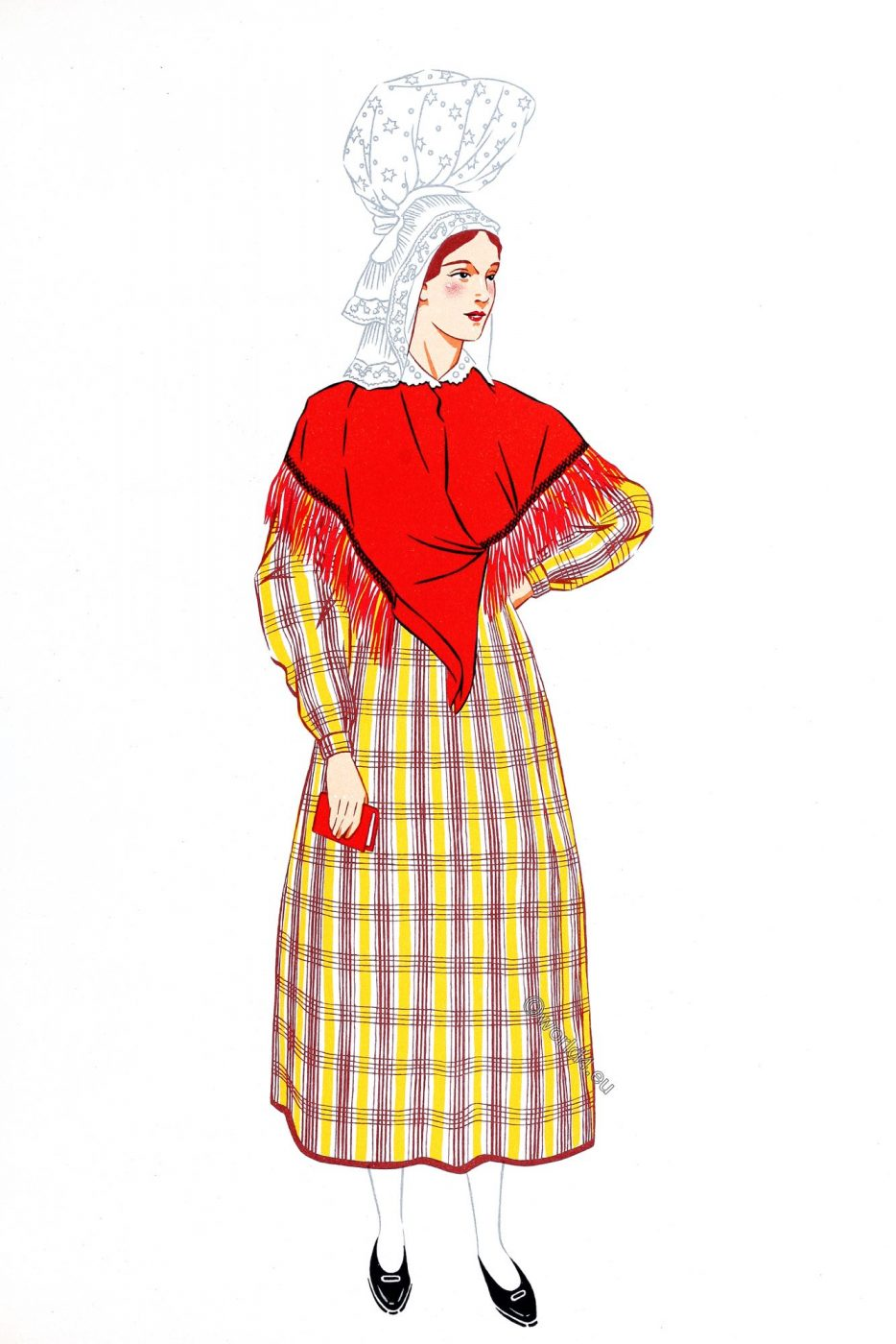 Normandy, traditional clothing, costume, Avranches, Département Manche,