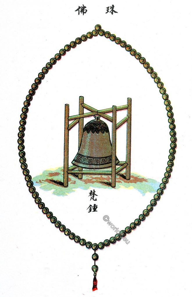 Buddhist, bell, China, Buddhism, beads, 108 strokes