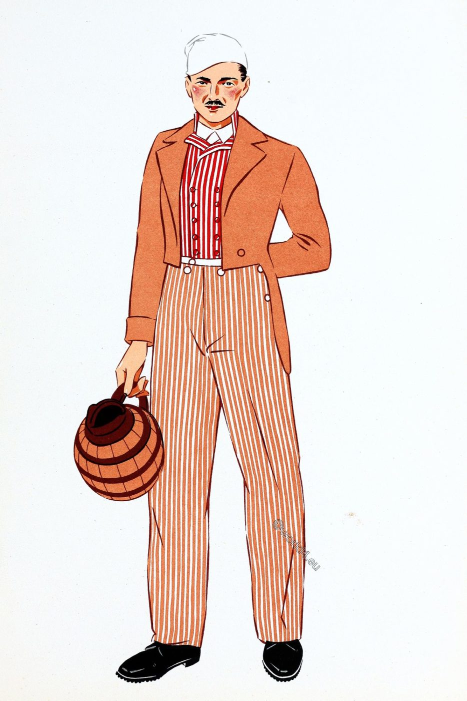Burgundy, costume, traditional clothing, Man, France
