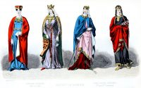 Carolingian, Capetian, costumes, fashion, history, middle ages,