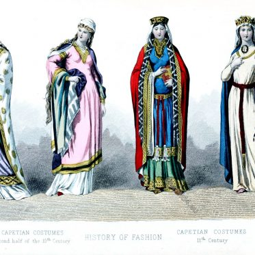 Capetian, costumes , fashion, france, middle ages, Queens,