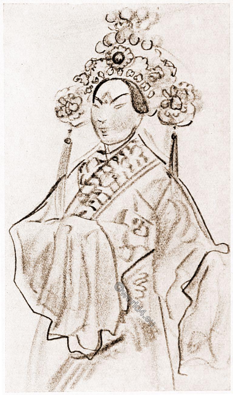 illustration, Chinese, actor, Jakowlew, China, Opera,