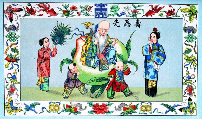 Chinese, god, Longevity, superstitions, Buddism