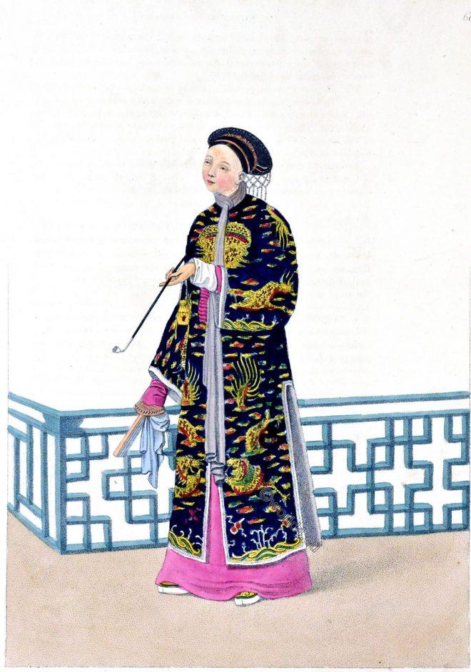Chinese, lady, costume, ceremony, fashion, china