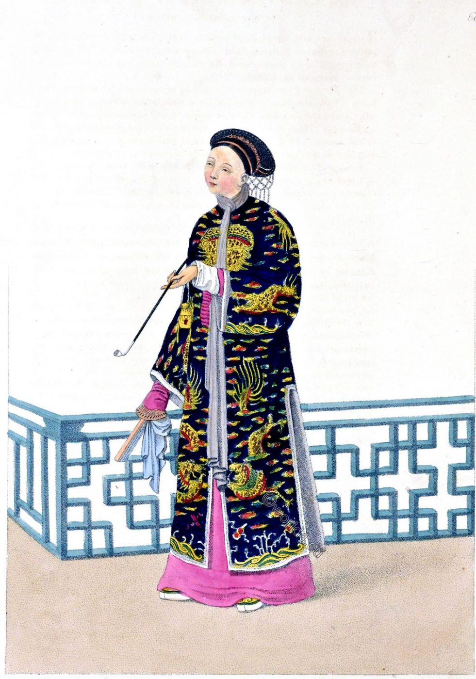Chinese, lady, costume, ceremony, fashion, china, representation