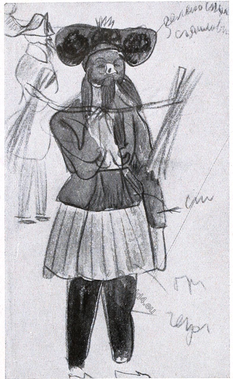 Comedian, China, Theatre, actors, illustration, Alexander Jewgenjewitsch Jakowlew