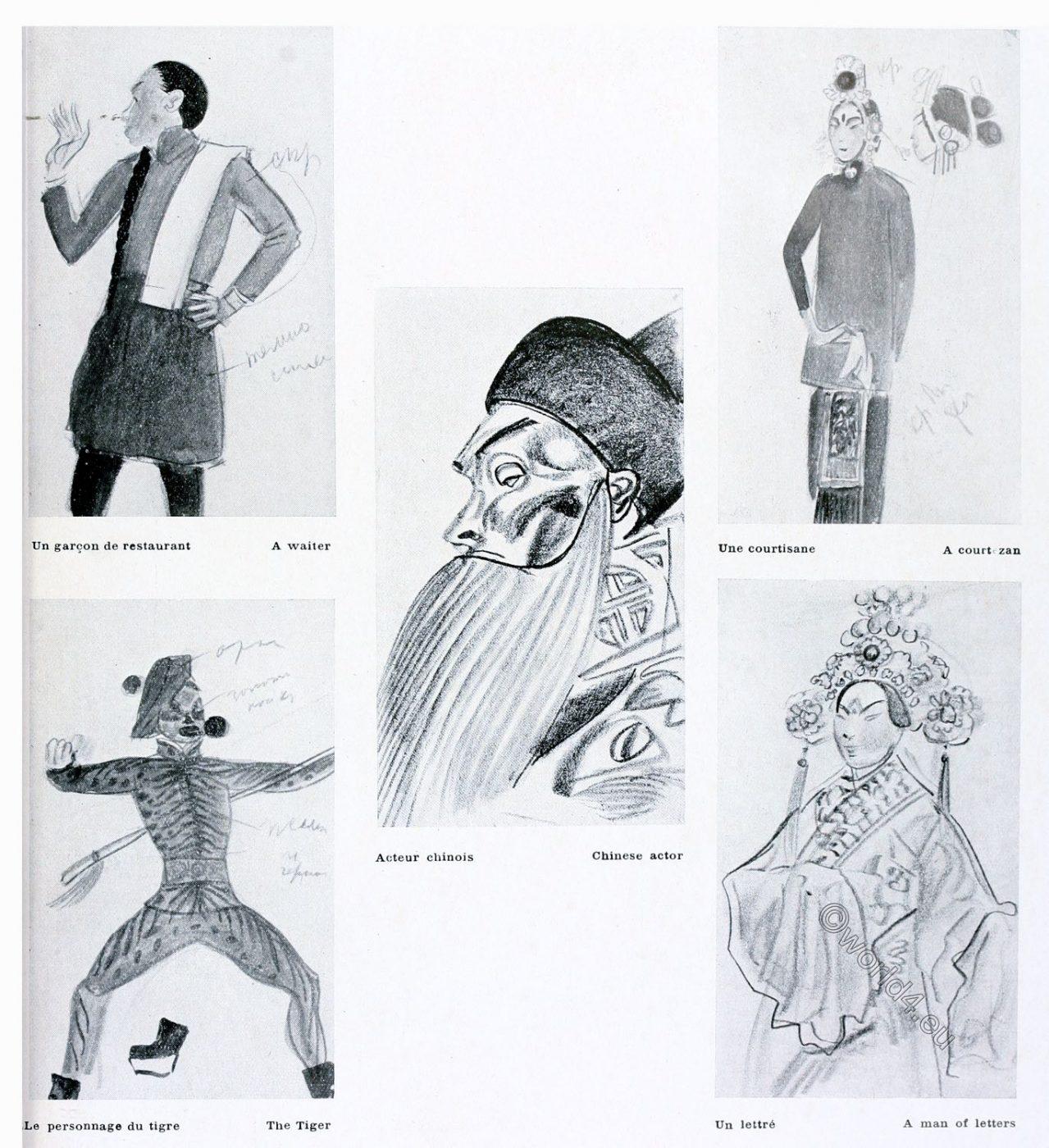 Actors, Chinese, theatre, Jakowlew, China, Opera,
