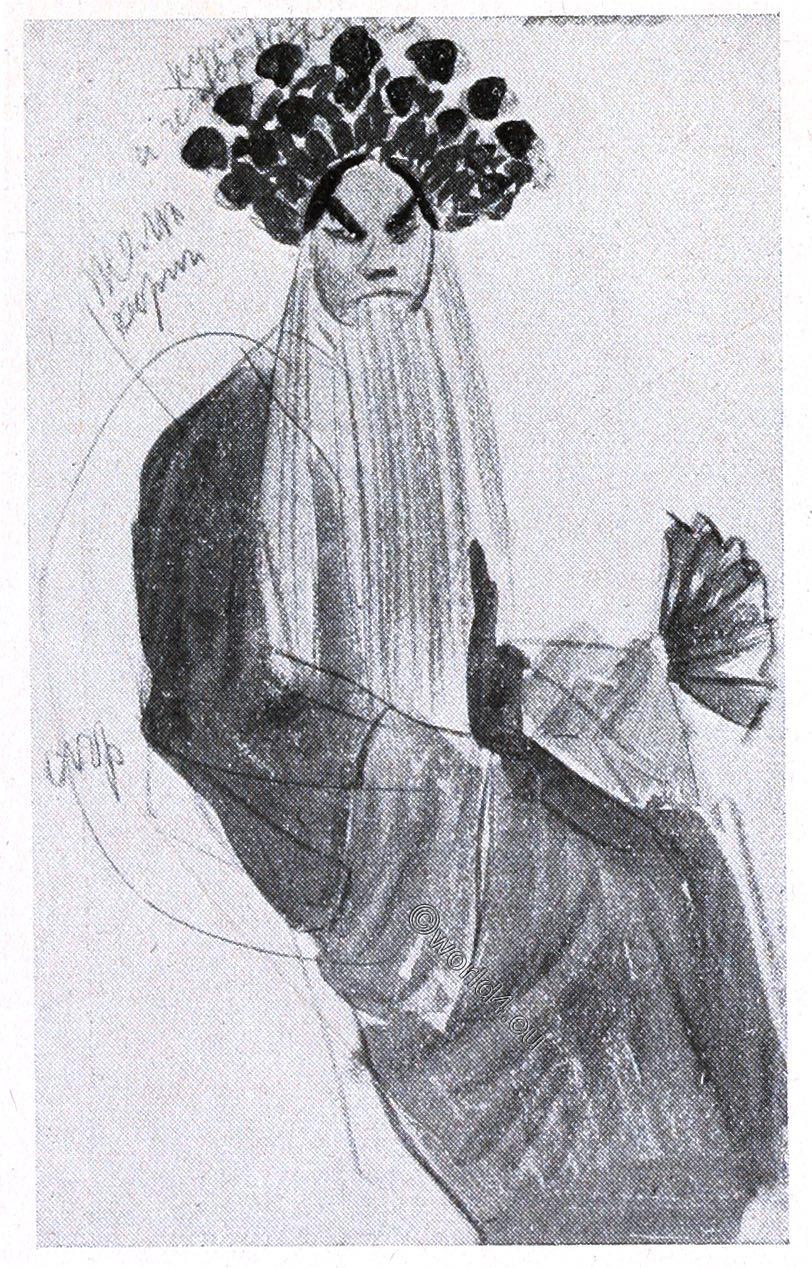 Male personage, Chinese opera,