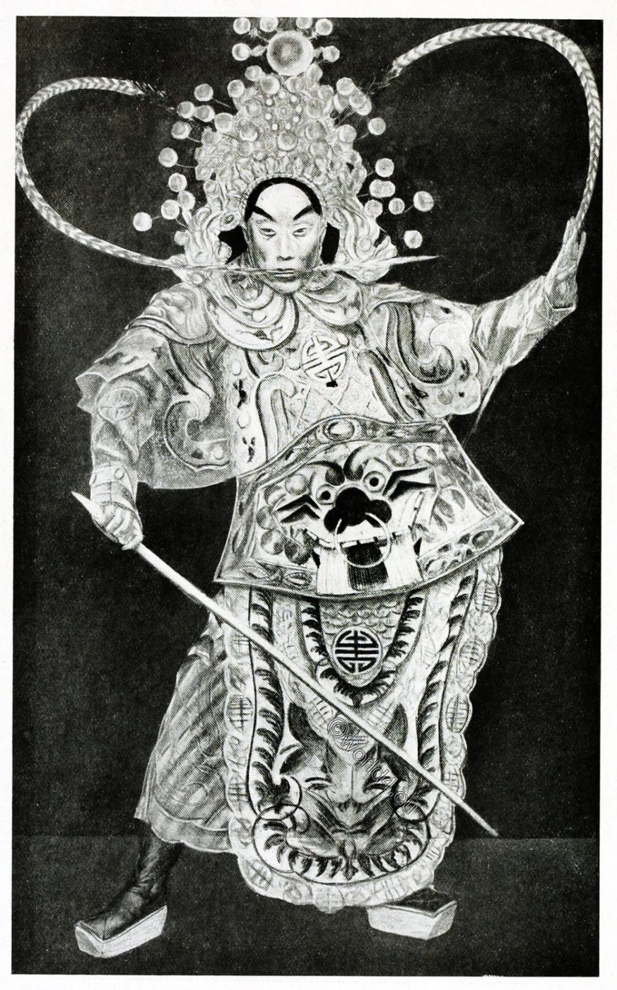 Chinese, Theatre, warrior, Opera, Alexandre Iacovleff