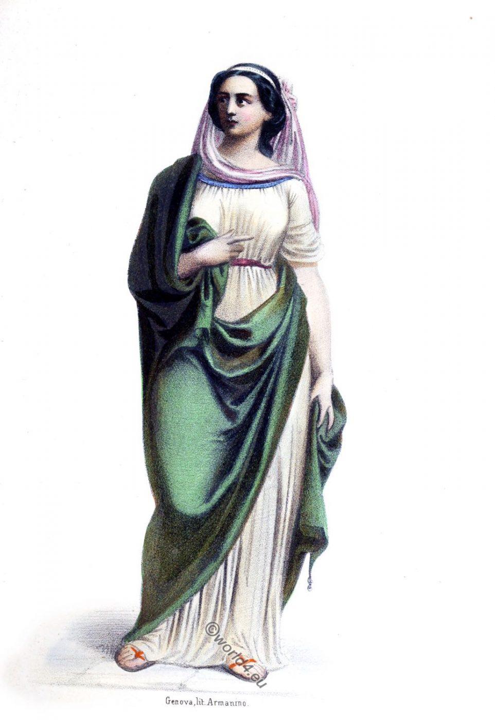 Cloelia, Clelia, Rome, ancient, Roman history, costume, clothing