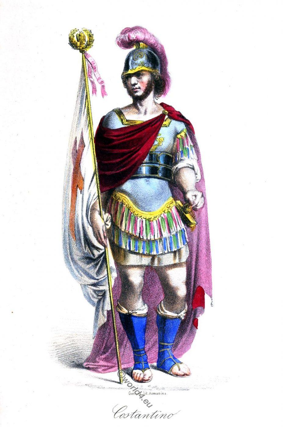 Flavius Valerius Constantinus, Costantino, Rome, ancient, Roman Emperor, history, costume, clothing
