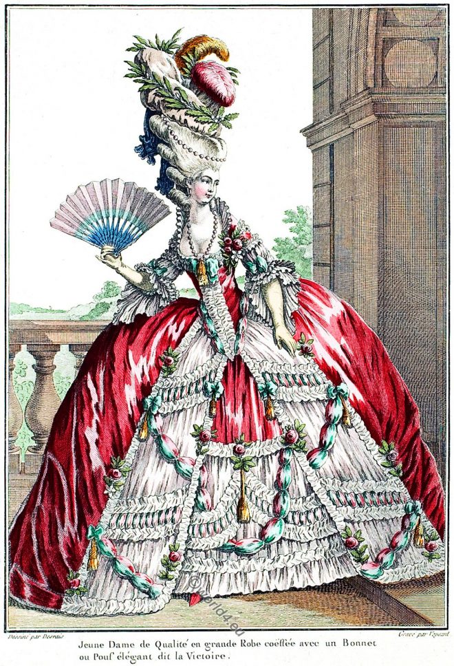 Grand Robe, Rococo, fashion, court dress, versailles