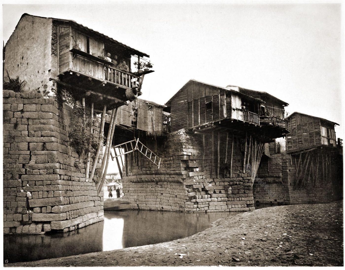 广济桥;, 廣濟橋, Guangji, Xiangzi Bridge, China, Chaozhou, Guangdong