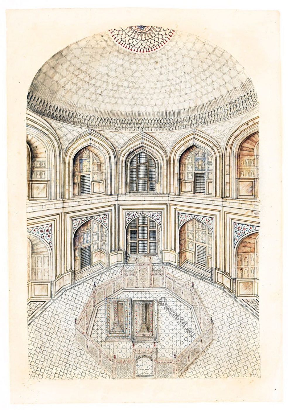 Interior, Taj Mahal, Mausoleum