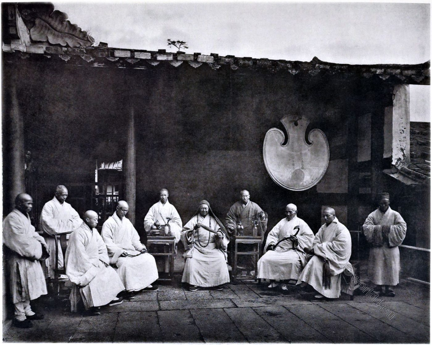 John Thomson, Monastery, China, Abbot, Monks,  Gushan, Buddhist,