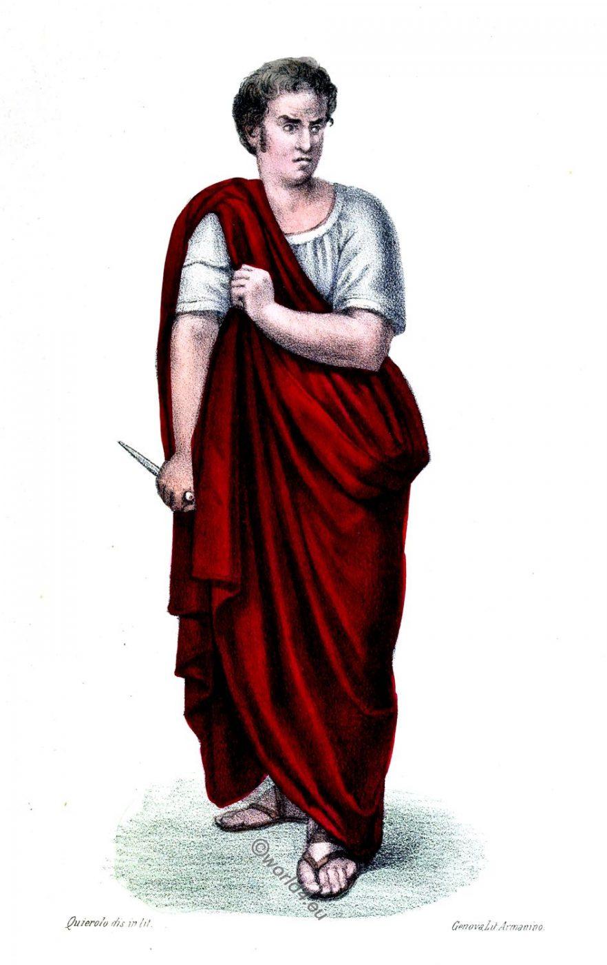 Lucius Junius Brutus, Giunio Bruto, Rome, ancient, Roman, consul, history, costume, clothing