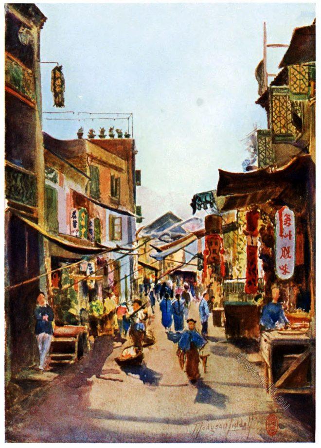 Macao, Street, market