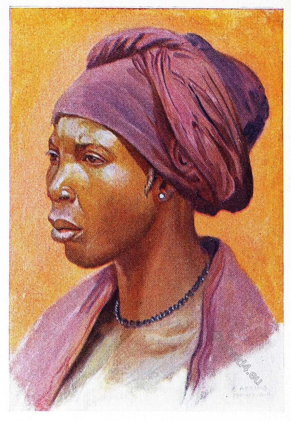 Nupe, Woman, Africa, costume, Leo Frobenius, clothing, Sudan