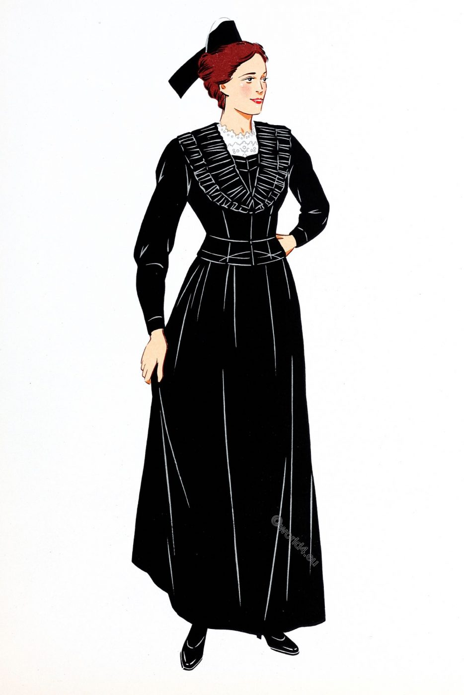 French, Traditional clothing, Provence, Arles, costume,