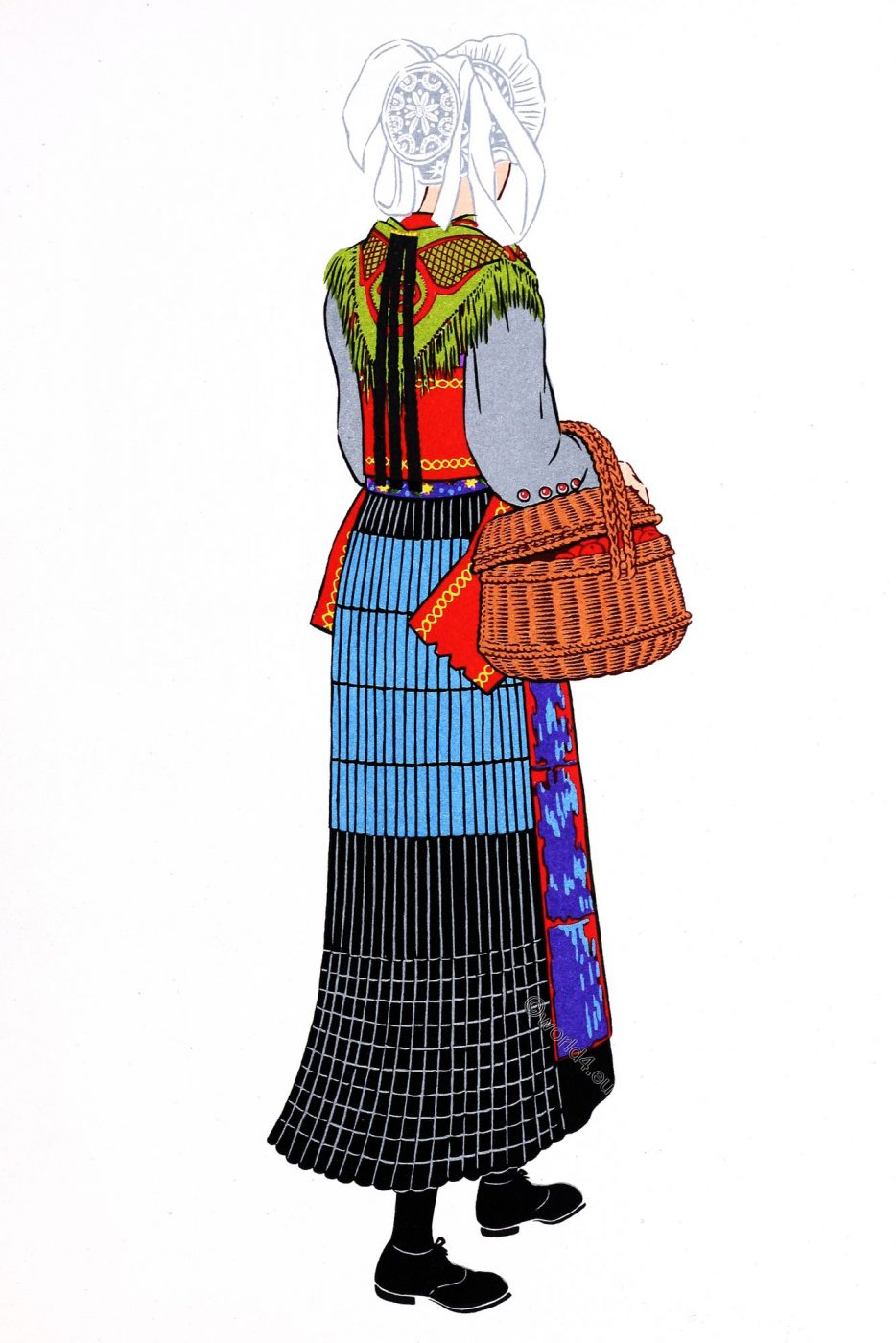 French, Traditional clothing, Savoy, costume, Saint-Jean-d'Arves,