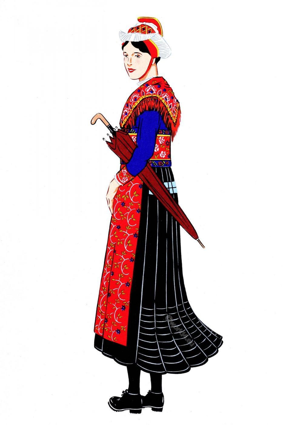 French, Traditional clothing, Savoy, costume, Saint-Sorlin