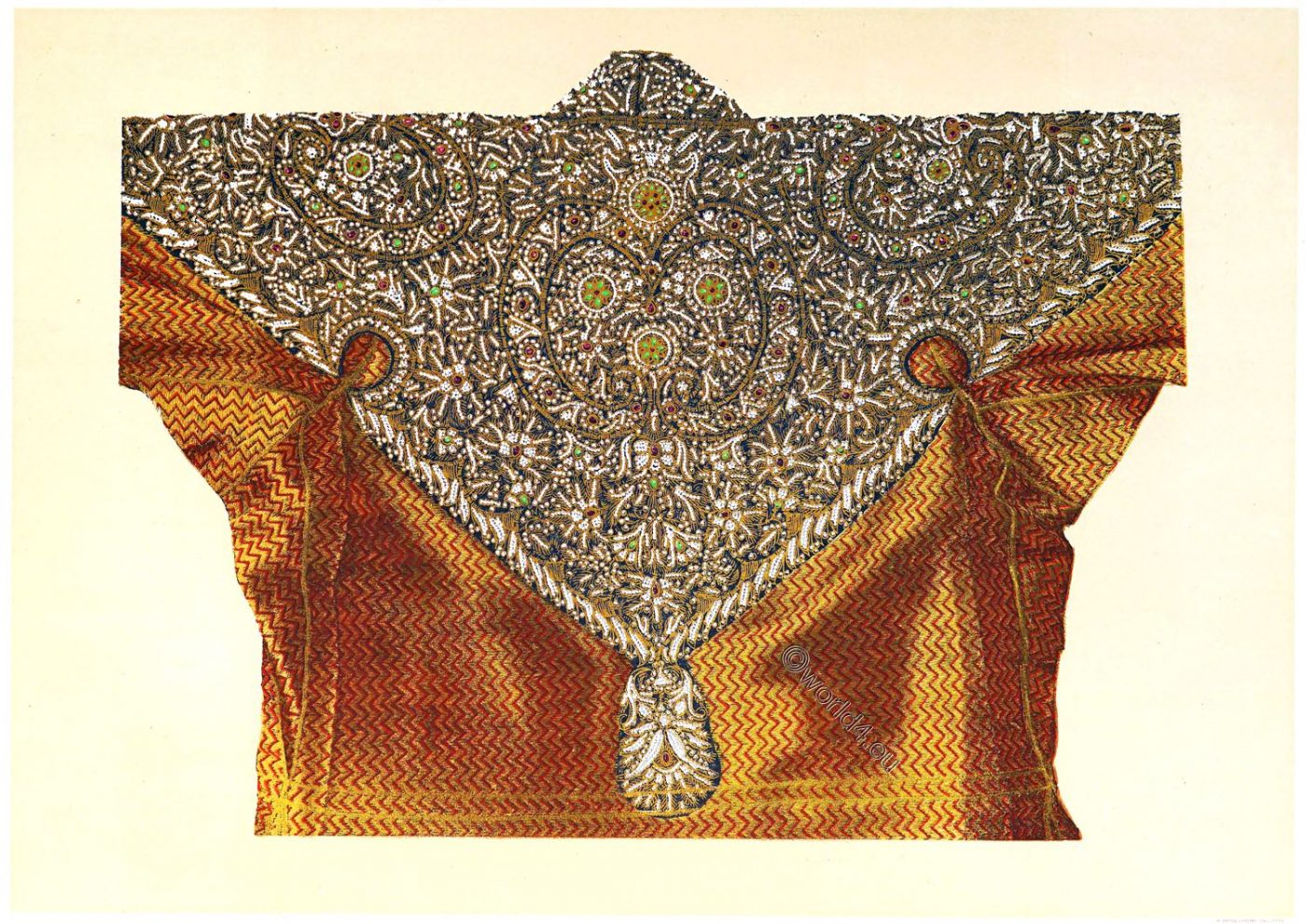 Rajasthan, Maharaja, state, brocade, overcoat