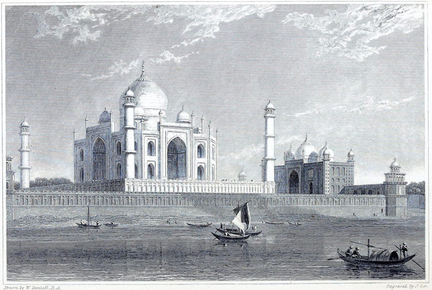 Taj Mahal, Agra, Architecture, Oriental,