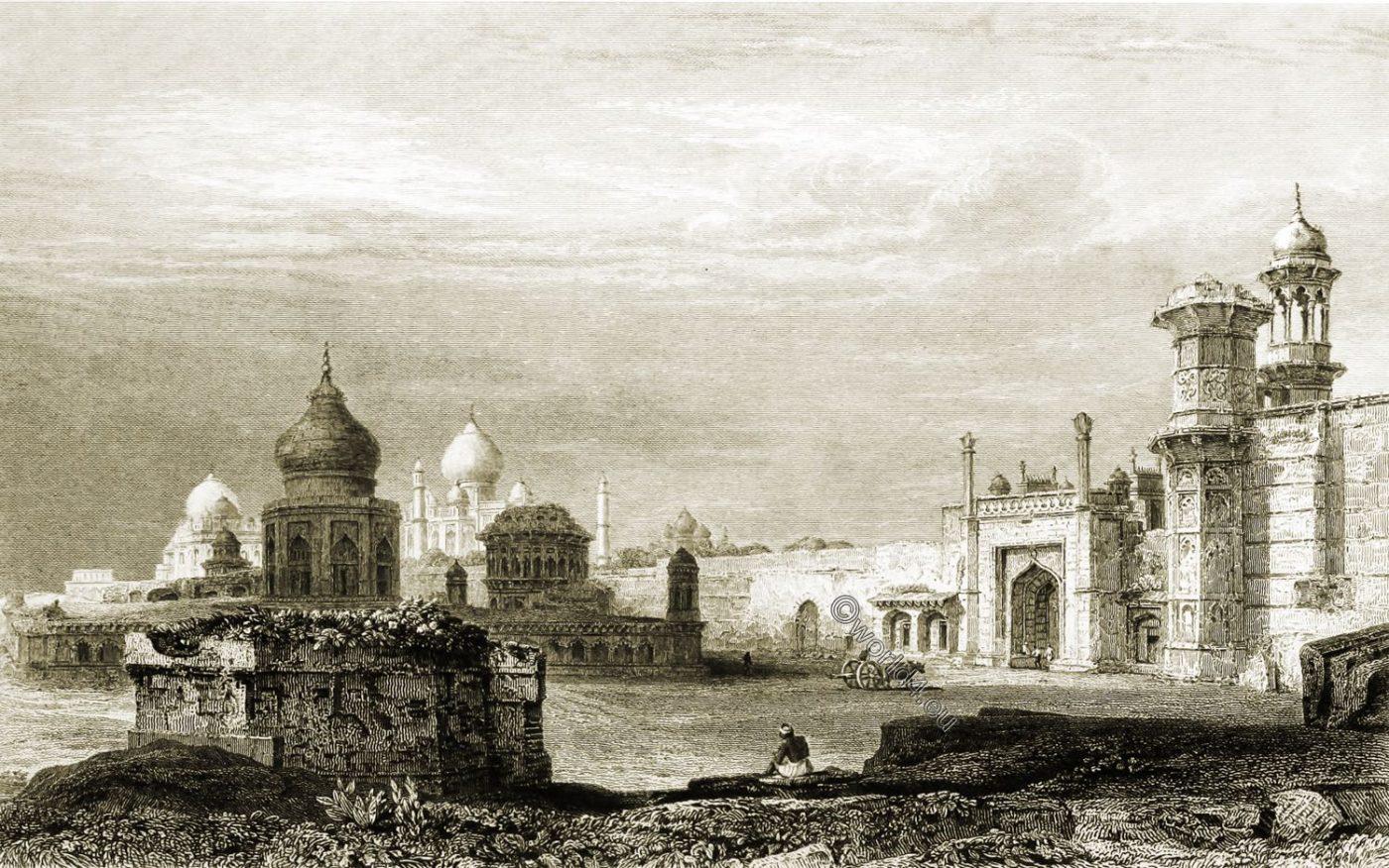 Taj Mahal, Agra, India,