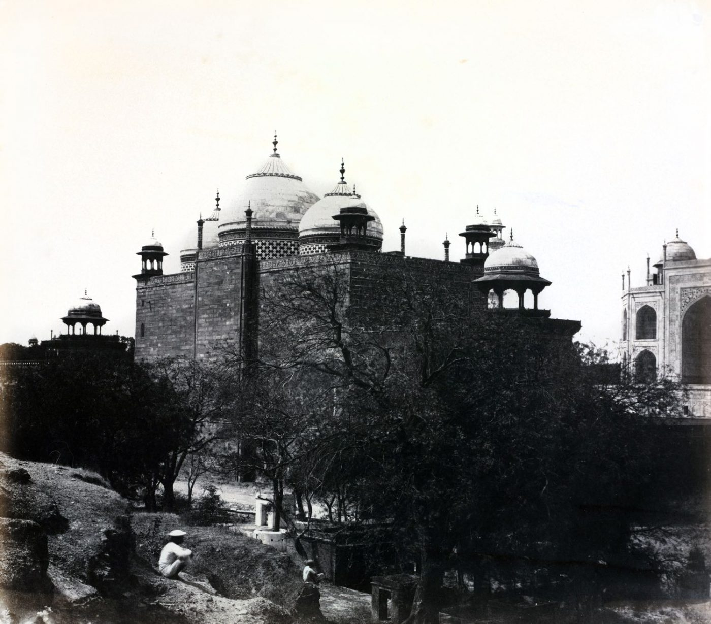 Taj Mahal, Back View, Rest-House