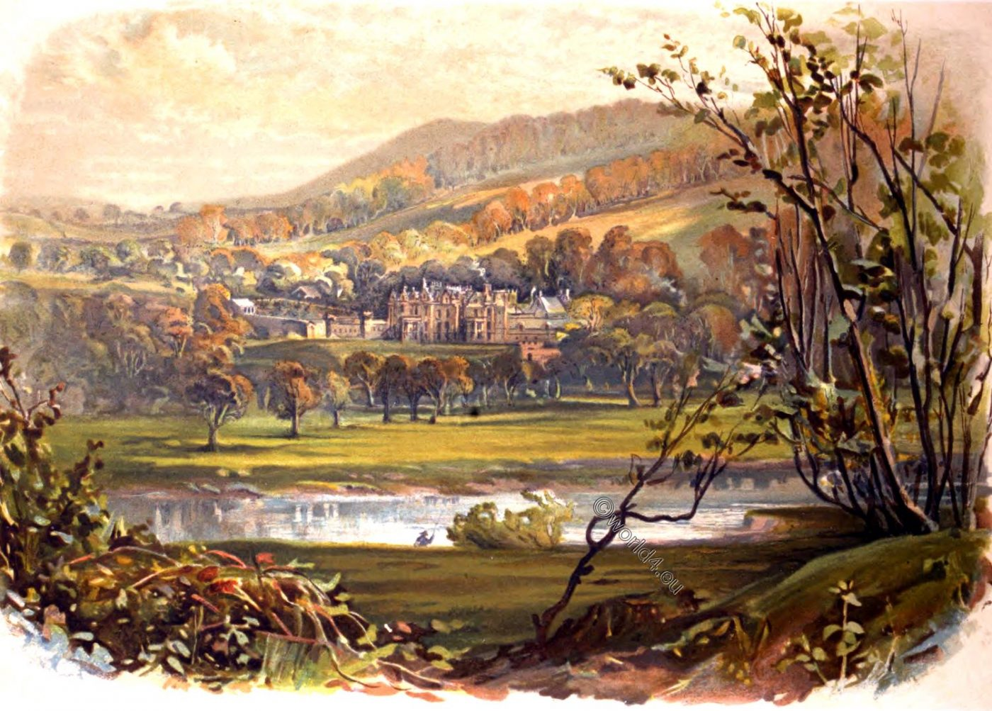 Abbotsford, Residence, English, writer, Sir Walter Scott