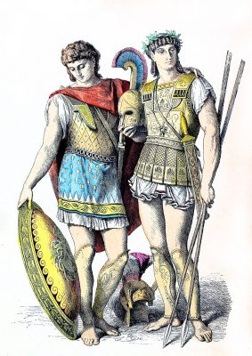 Ancient, Greek, warriors, Military, leaders, costumes,