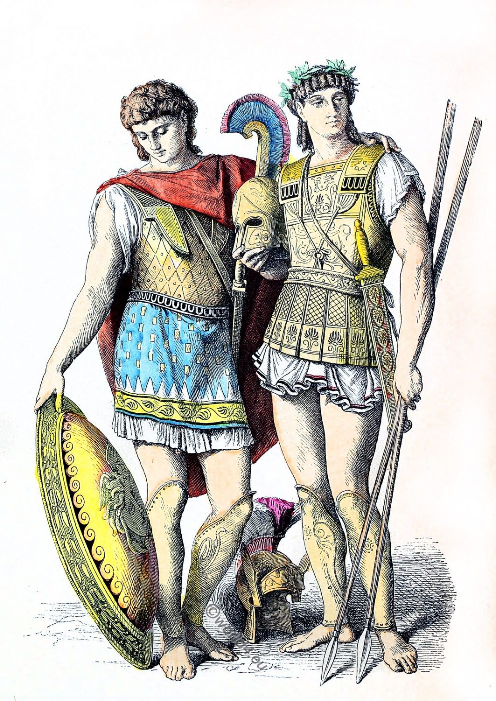 Ancient, Greek, warriors, Military, leaders, costumes,