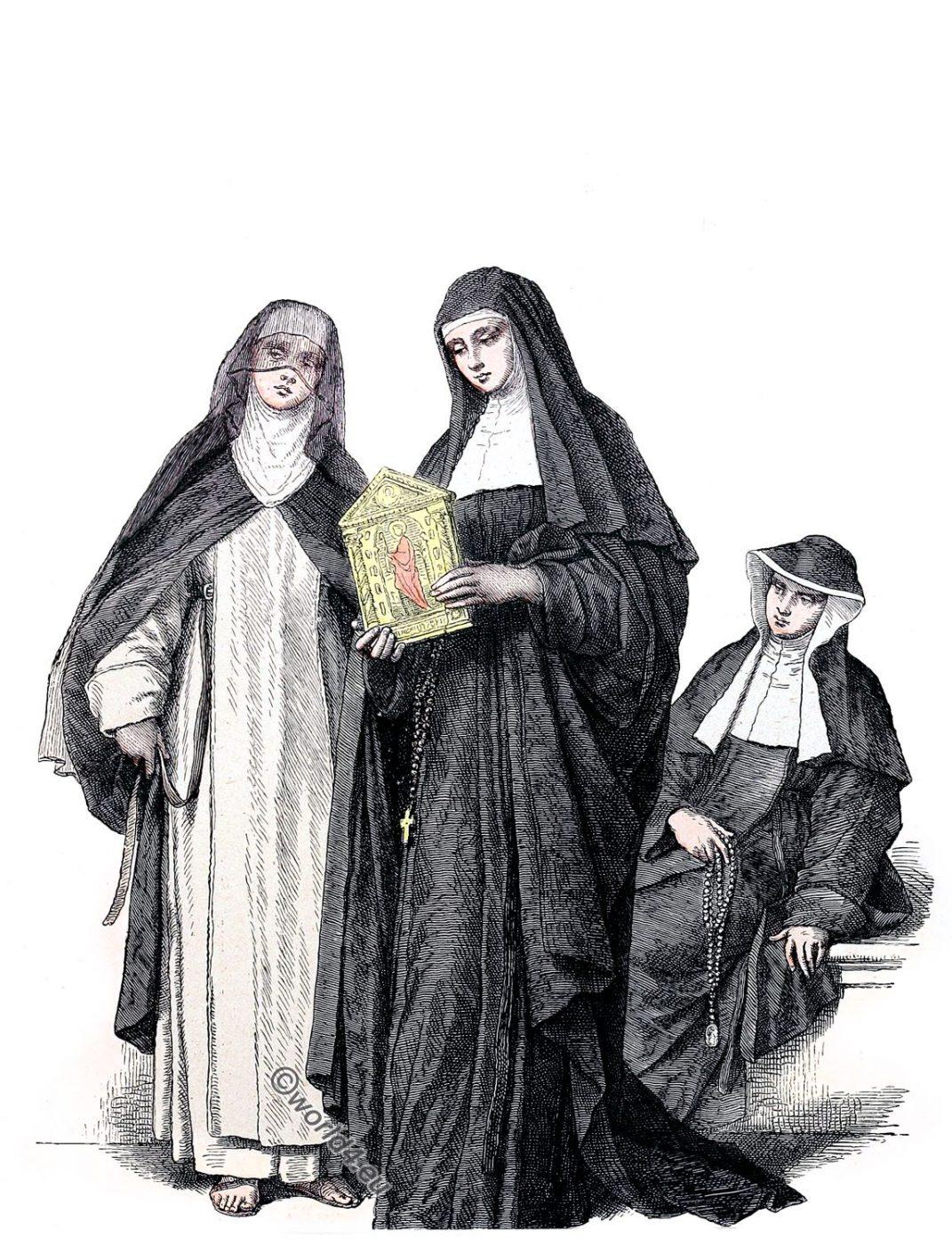Augustinian, nuns, habit, monastic order