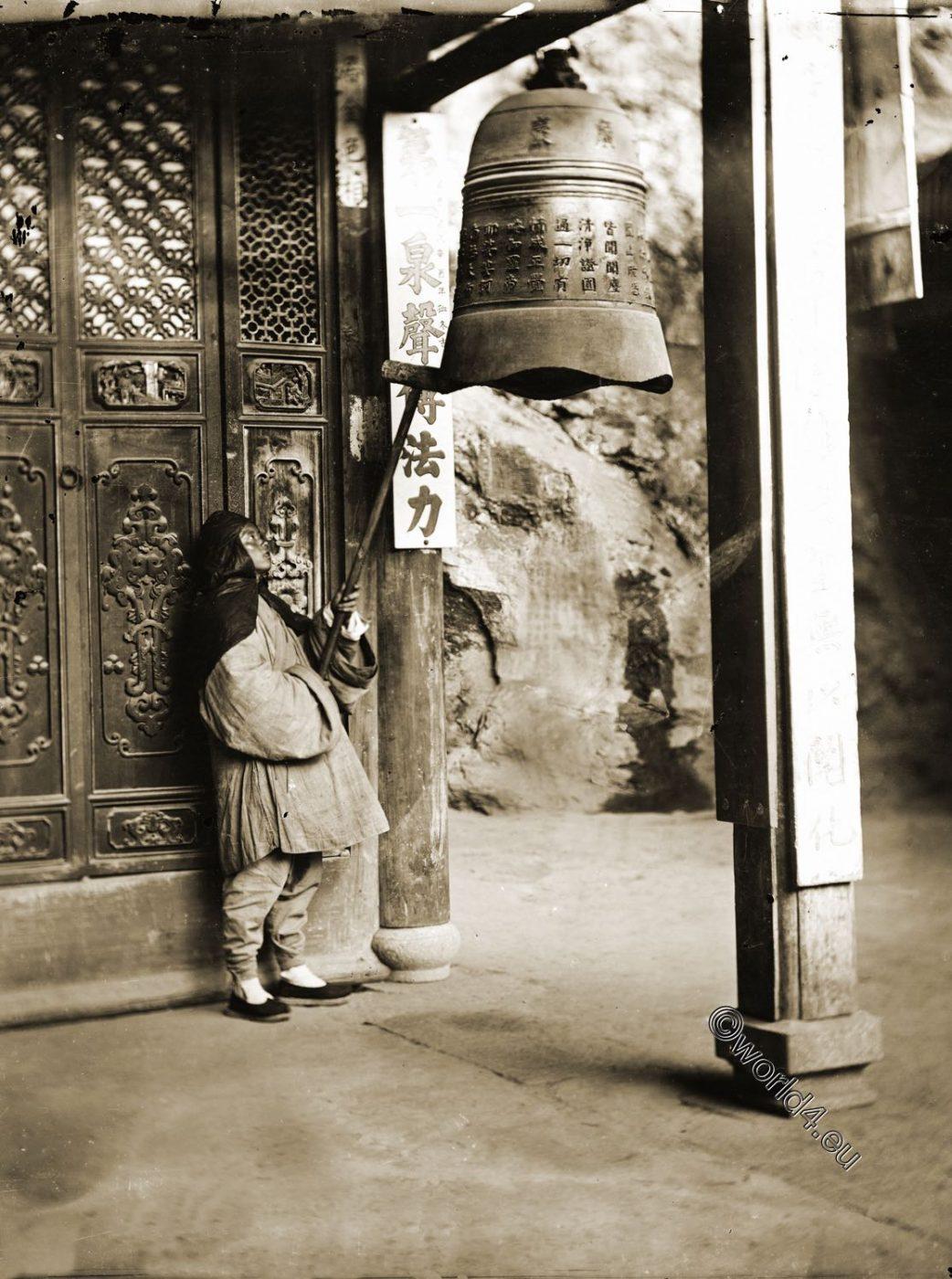 Buddhist, monk, Yuan Fu, Monastery, China, bell