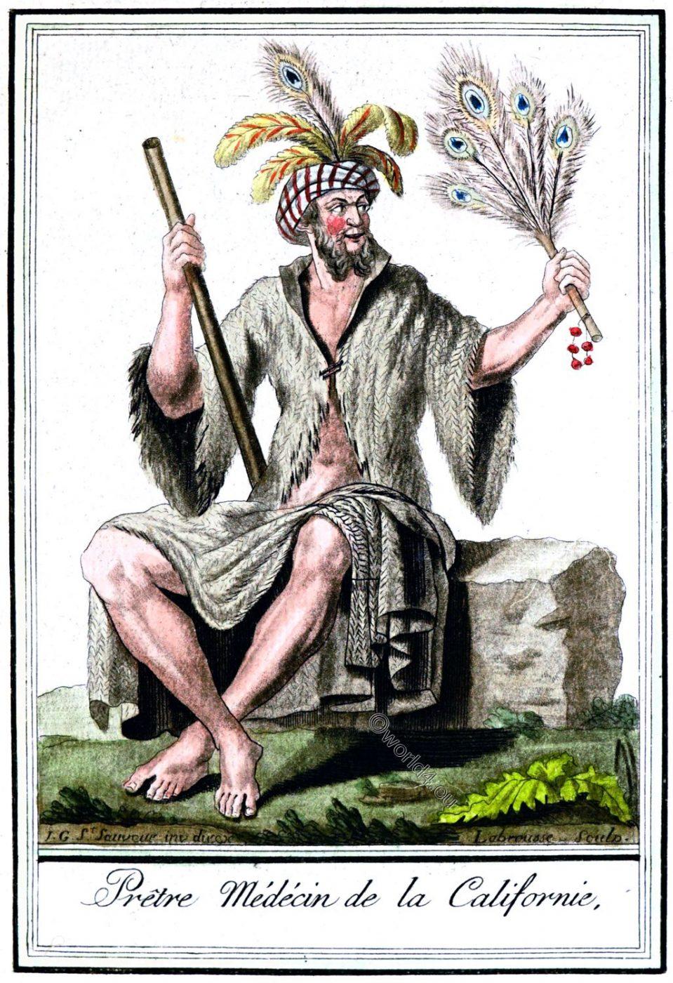 California, Medical, Priest, native, clothing, Jacques Grasset de Saint-Sauveur