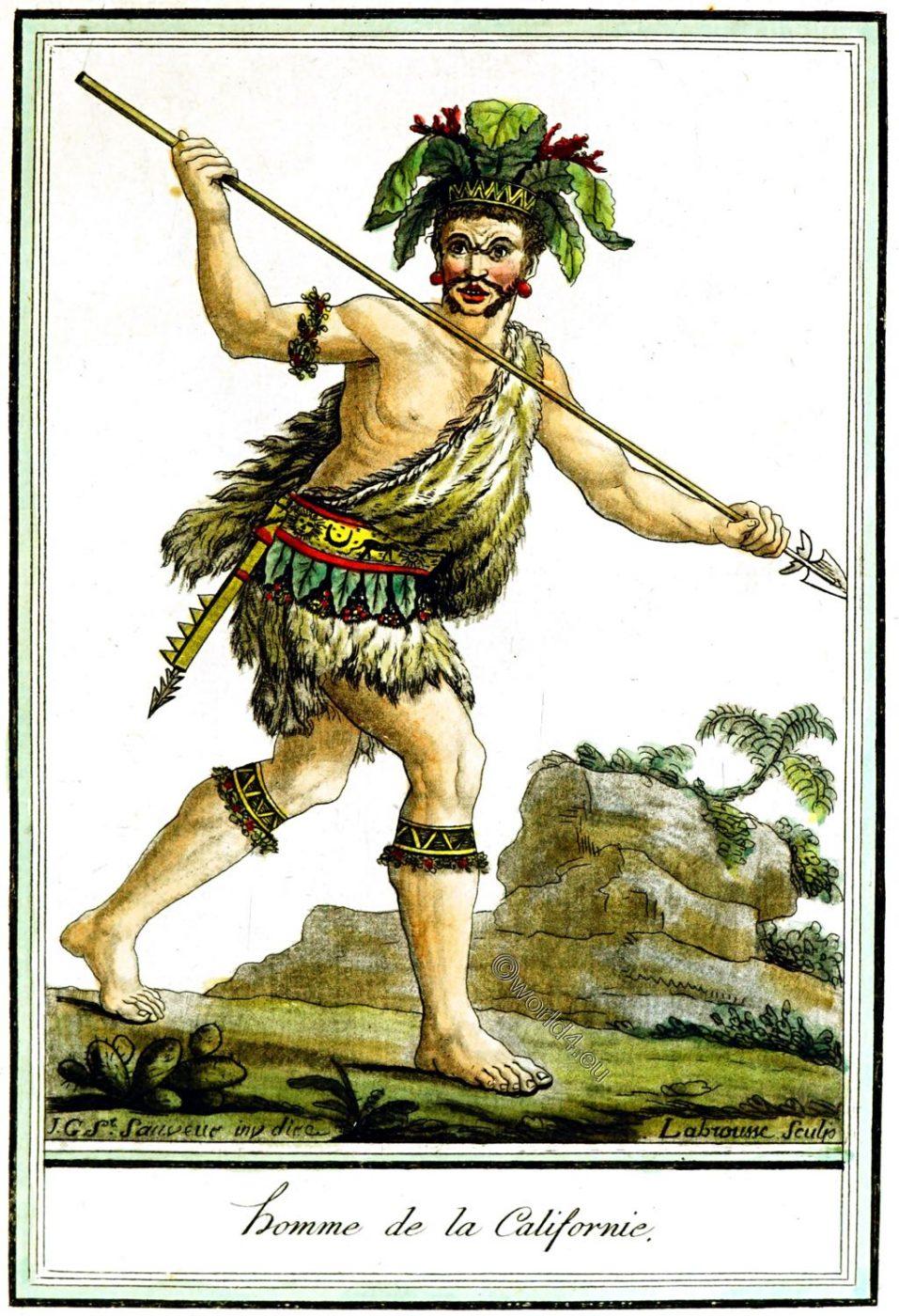California,Native, Californian, clothing, Jacques Grasset de Saint-Sauveur