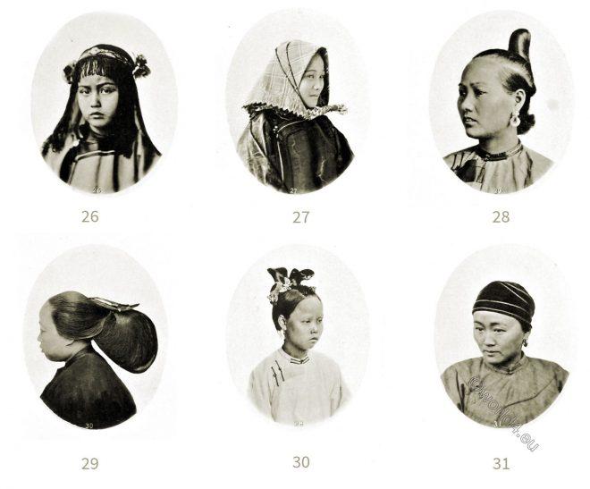 Traditional, Chinese, female, coiffure, Guangzhou, Shantou, Swatow, Ningpo, Shanghai, 繁体中文女性发型