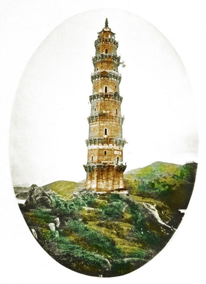 John Thomson, Chinese, Pagoda, Guangdong, 廣東省